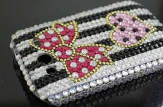 Bling Diamond Bowknot Back Hard Case Cover For HTC Wildfire S A510e
