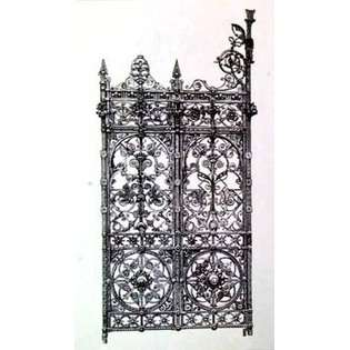 ow Wrought Iron Gate V By Unknown 14 X 18