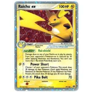 Raichu EX   Emerald   97 [Toy]: Toys & Games
