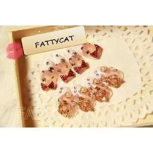 FASHION 3D NAIL ART (PINK RIBBON) 24 nails Sold By