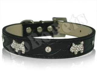 11 Pink Leather Rhinestone Dog Collar Small S