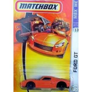 Matchbox 2007 164 Scale Orange Ford GT Cast Car #13 Toys & Games