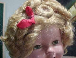 1930s 23 Shirley Temple Doll/Tin Eyes/Original Tin Pin/L@@K