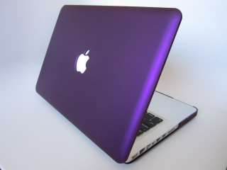 13 inch MacBook Pro Rubberized Hard Case Laptop Cover   Eggplant