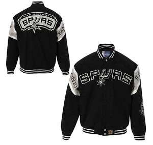 NBA SAN ANTONIO SPURS TWILL ADULT JACKET JH DESIGN NWT