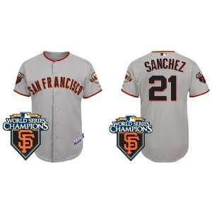 San Francisco Giants #21 Freddy Sanchez Grey 2011 MLB