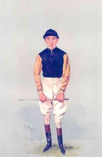 HORSE RACING JOCKEY. Original Antique Lithograph.1906