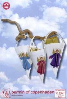 Angel Christmas Bags Cross Stitch Kit Permin of Copenhagen 016527