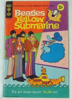 THE BEATLES YELLOW SUBMARINE 1968 GOLD KEY COMIC BOOK NO POSTER