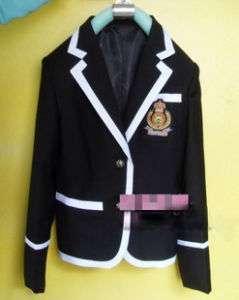 Korean Japan School Girl Blazer Cosplay Costume NEW