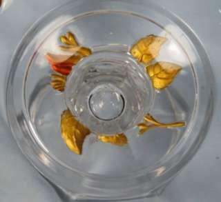 EAPG Antique FLOWER GARLAND GOOFUS GLASS COMPOTE VG (O)