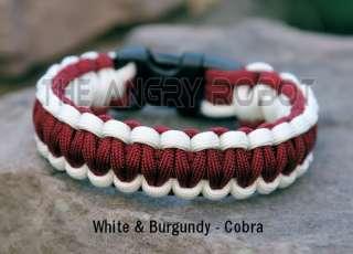 Paracord Survival Bracelet Cobra   Pink & Desert Camo