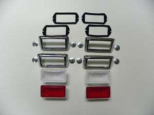 1969 Mustang Shelby Side Marker Lamp Kit   Front & Rear