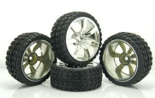 Racing Rubber Foam Tires Tyre Wheel Rim RV Touring 110 On Road Car