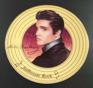 Elvis Presley Solid Gold Plate JAILHOUSE ROCK 1st + COA