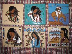 Variety of Native American EARTHTONE 6 x 6 Art Tiles |