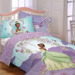 Brand New Princess and the Frog 4Pc Twin Comforter Sheet Set