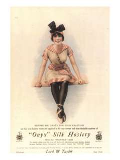 Onyx Silk Stockings Womens Nylons Hosiery, USA, 1915 Premium Poster