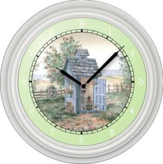 Personalized Garden bathroom Wall Clock