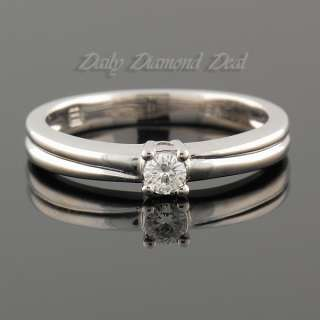 18K White Gold Solitaire Diamond Ring 0.15CT