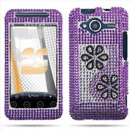 Pink Heart Bling Hard Case Cover for HTC EVO Shift 4G