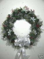 24 Christmas Wreath Wreaths ~~SILVER SNOWFLAKES~~