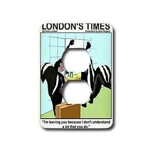 Londons Times Funny Animals Cartoons   Skunk Domestic Quarrels   Light