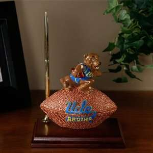 UCLA Bruins Team Spirit Mascot Football Clock and Pen Desk
