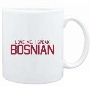 Mug White  LOVE ME, I SPEAK Bosnian  Languages