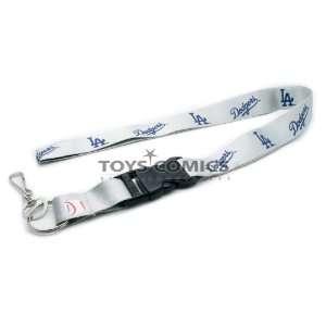 MLB Los Angeles Dodgers Baseball Lanyard Key Chain & Key