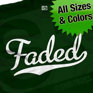 Faded Baseball T Shirt Pot Weed Kush Colors 2X 3X 4X 5X
