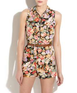 null (Multi Col) Innocence Floral Playsuit  249397299  New Look