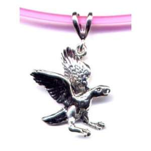 16 Pink Falcon Necklace Sterling Silver Jewelry