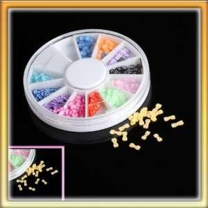LY Stylish 12 Color Bowknot Nail Art Diy Nail Sticker Decoration One