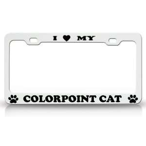 Animal High Quality STEEL /METAL Auto License Plate Frame, Pink/White