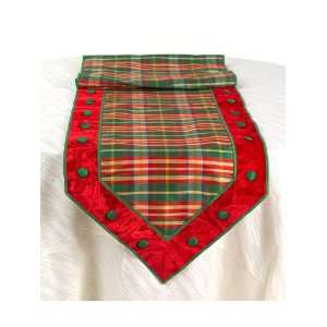Pack of 2 Christmas Plaid Table Runners with Decorative