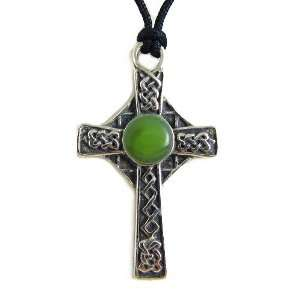 of the Celtic Cross Pewter Pendant on Corded Necklace Jewelry