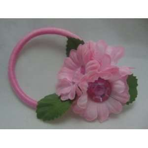 Cute Pink Flower Pony Tail Holder