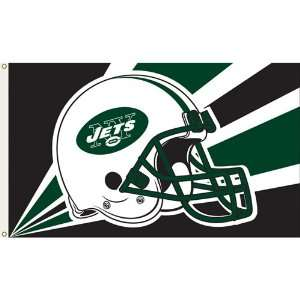 New York Jets NFL Helmet Design 3x5 Banner Flag Everything Else