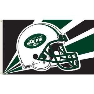 New York Jets NFL Helmet Design 3x5 Banner Flag