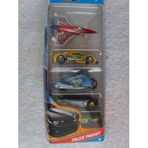 Hot Wheels Police Pursuit 5 Car Pack Toys & Games