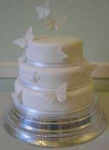 Shimmer butterflies wedding cake topper & decorations