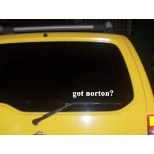 got norton? Funny decal sticker Brand New Everything