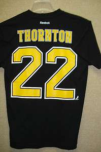 Boston Bruins Shawn Thornton Reebok Name & Number Tee Shirt Jersey