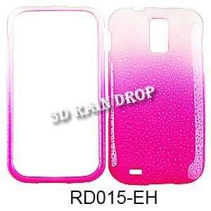 3D Rain Drop Design. Hot Pink/White Cell Phones & Accessories