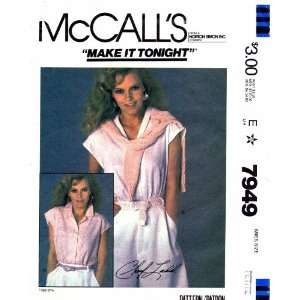McCalls 7949 Vintage Sewing Pattern Cheryl Ladd Front Button