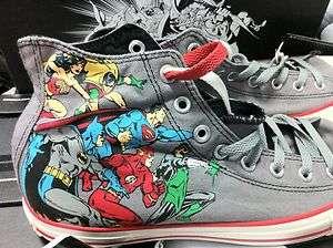 NEW CONVERSE ALL STAR DC COMICES BATMAN SUPERMAN SUPER HERO GREY CHUCK