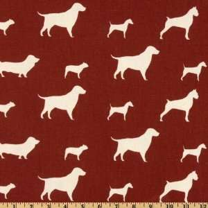 54 Wide Premier Prints Best Friends Stucco Red/Natural
