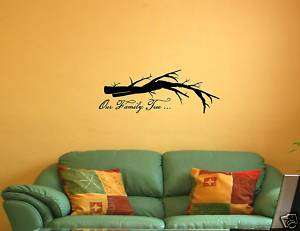 OUR FAMILY TREE Vinyl Wall Lettering Quotes Sayings Art