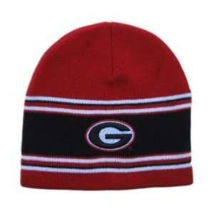 Beanie Georgia Bulldogs   Red Stripe:  Sports & Outdoors